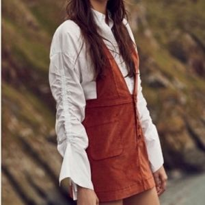 Free People Pinafore Overall Jumper Corduroy